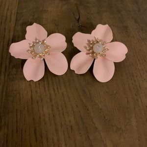 Large orchid earrings